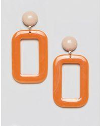 Mango - Resin Rectangle Earrings - Lyst