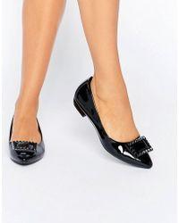 Daisy Street - Point Black Flat Shoes - Lyst