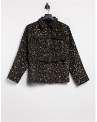 Fashion Union Belted Shacket - Brown