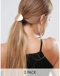 Glamorous - Double Disc Hair Ties - Lyst