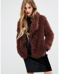 First & I - Soft Touch Faux Fur Jacket - Lyst