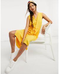 Y.A.S - . Melia Sleeveless Tie Waist Midi Dress - Lyst
