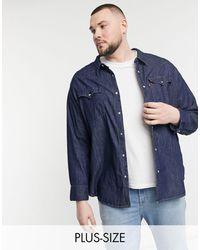 Levi's Красная Выбеленная Джинсовая Рубашка В Стиле Вестерн Big & Tall Barstow-голубой - Синий