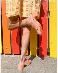 Bershka Mid Heel Jelly Sandal - Multicolour