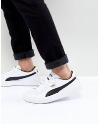 PUMA - Breaker Leather Trainers In White 36607802 - Lyst