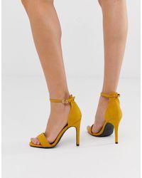 New Look Stiletto Sandal - Yellow