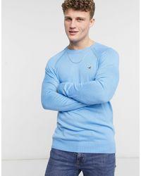 Hollister Jersey con cuello redondo y logo - Azul