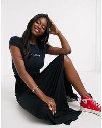 ASOS Maxi Skirt With Shirred Waist - Black