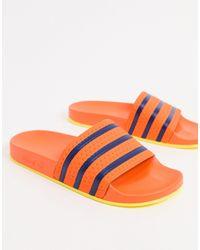 adidas Originals Оранжевые Шлепанцы Adilette-оранжевый