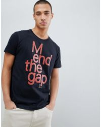 8f31ee35 Nudie Jeans - Co Anders Mend The Gap Organic Cotton T-shirt In Black -
