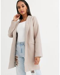 Missguided Бежевое Пальто -розовый - Естественный