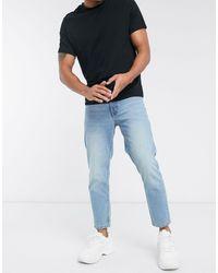 ASOS – Klassische Jeans aus steifem Denim - Blau