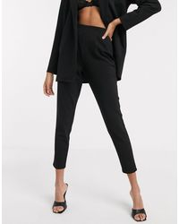 ASOS Jersey Tapered Suit Trousers - Black