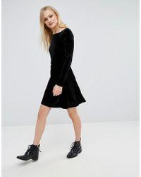 First & I - Velvet Mini Skirt - Lyst