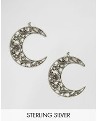 Regal Rose - Eclipse Huge Floral Crescent Earrings - Lyst
