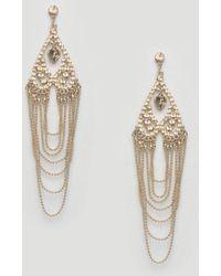 Lipsy - Chandelier Earrings - Gold - Lyst