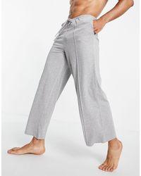 ASOS Серые Меланжевые Пижамные Штаны Для Дома С Широкими Штанинами - Серый