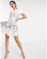 Ted Baker Woodland - Robe patineuse en jersey - Rose