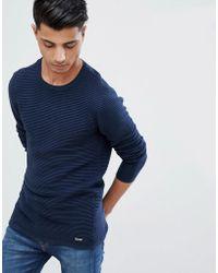 Threadbare - Stretch Ribbed Crew Neck Sweater - Lyst