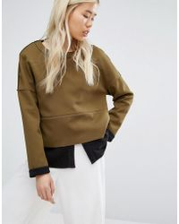 Native Youth - Panelled Sweatshirt With Contrast Turn Up - Lyst