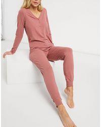 Lindex Пижамные Штаны Из Органического Хлопка Приглушенного Розового Цвета Astrid-розовый Цвет