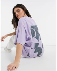 ASOS 4505 - Camiseta extragrande con estampado unisex - Lyst