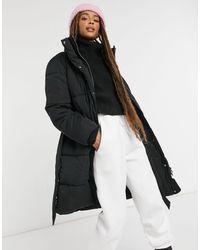 Monki Maxima - Doudoune avec ceinture - Noir