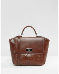 Ri2k - Leather Tote Bag - Lyst