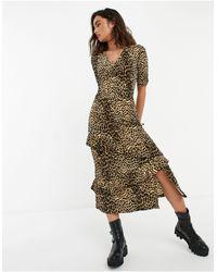 Warehouse - Oasis Ruffle Tiered Midi Dress - Lyst