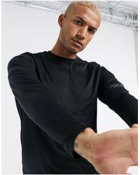 TOPMAN Gym Long-sleeved T-shirt - Black