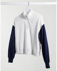 Hollister Sweater Met Halve Rits - Wit