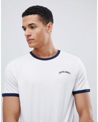 Jack & Jones - Ringer T-shirt - Lyst