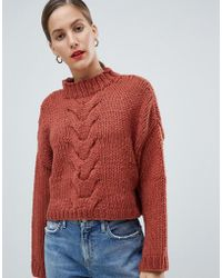 Native Youth - Premium Hand Knitted Cropped Cable Knit Jumper - Lyst