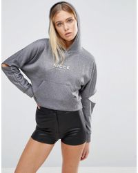 Nicce London - Cut Out Sleeve Hoodie - Lyst