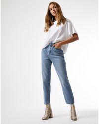 Miss Selfridge Jeans slim a vita alta lavaggio blu medio