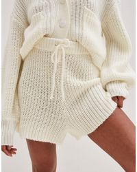 4th & Reckless Knitted Runner Short Co Ord - Natural