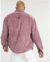 ASOS Розово-лиловая Вельветовая Oversized-рубашка В Стиле 90-х - Пурпурный