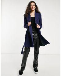 Oasis Light Weight Wrap Coat - Blue