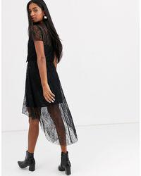 Stradivarius Lace Dress - Black