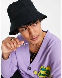 ASOS Wide Brim Bucket Hat - Black