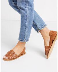 ASOS Florentine Woven Leather Sandal - Multicolour