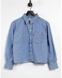 Levi's Свободная Рубашка В Утилитарном Стиле Синего Цвета -голубой - Синий
