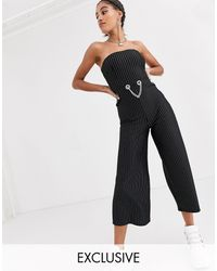 Another Reason Strapless Fitted Jumpsuit - Black