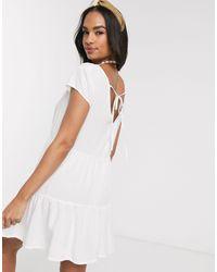Rhythm Белое Пляжное Платье -белый