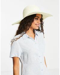 Vero Moda Straw Hat - White