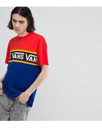 Vans - T-shirt In Colour Block In Navy Exclusive To Asos - Lyst