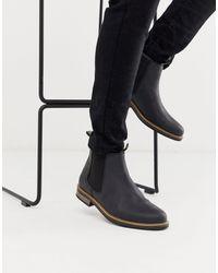 Barbour Черные Кожаные Ботинки Челси -черный