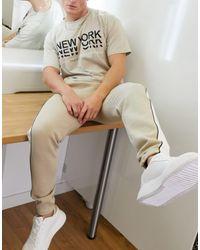 New Look Joggers color con ribetes - Neutro