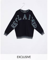 Reclaimed (vintage) Sweat With Logo Embroidery And Taping - Black