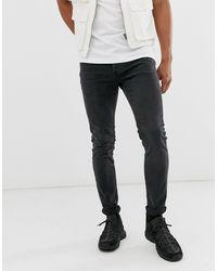 TOPMAN Stretch Skinny Jeans - Black